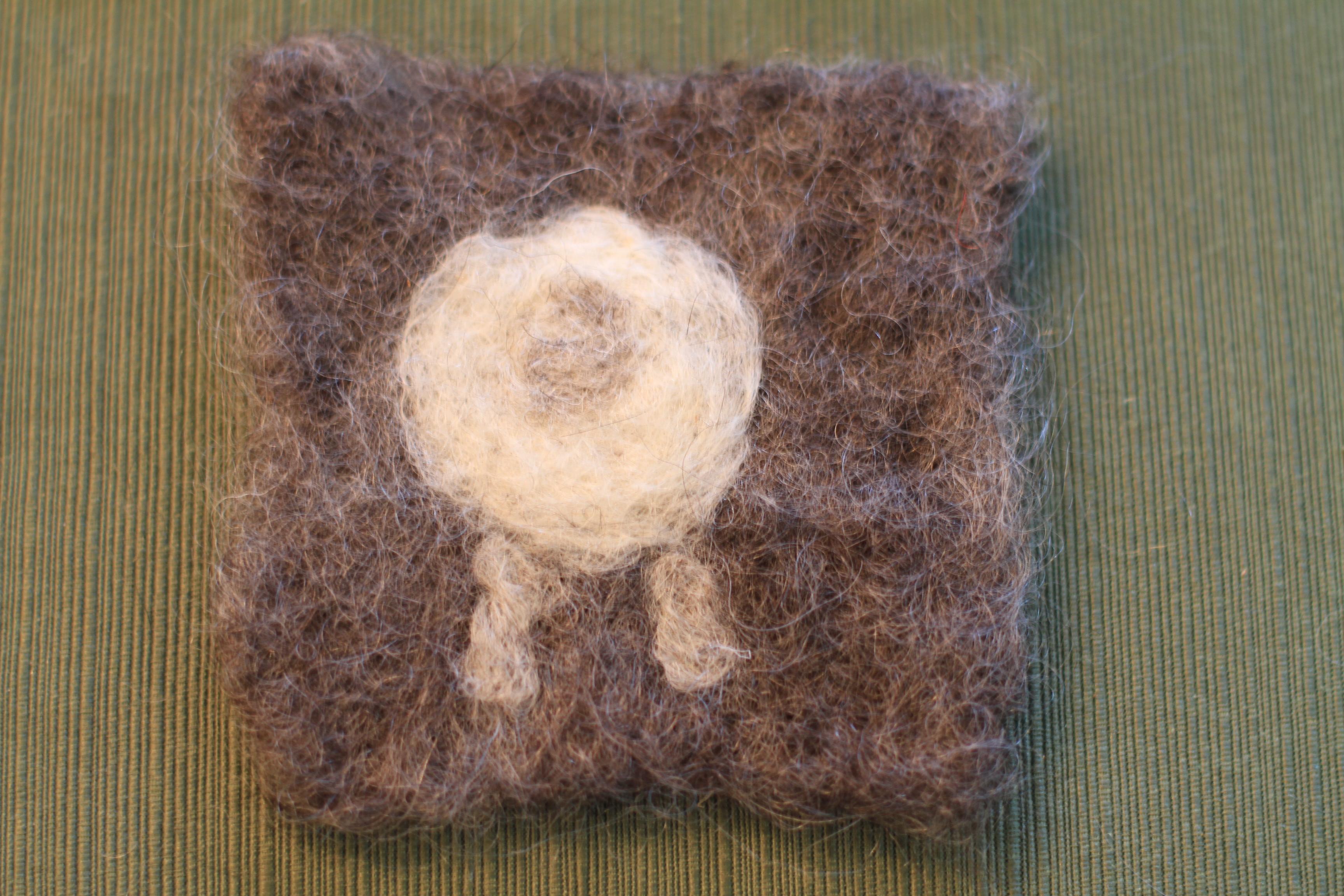 Sheep Coaster From DWF Roving