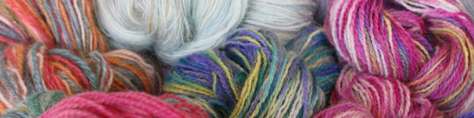 Multi Colored Hand Dyed Handspun Yarns