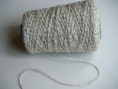 Yarn Worsted Tan White Tweed 2Ply Millspun 68% Mohair 32% Wool - Sold by the Pound