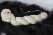 Yarn White 3Ply Worsted Cloudberry