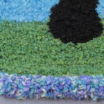 View from the House Chair Seat - Closeup of Grass and Edging
